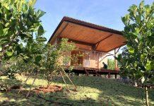 Nhà vườn bằng gỗ