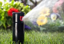 tưới thảm cỏ sân vườn